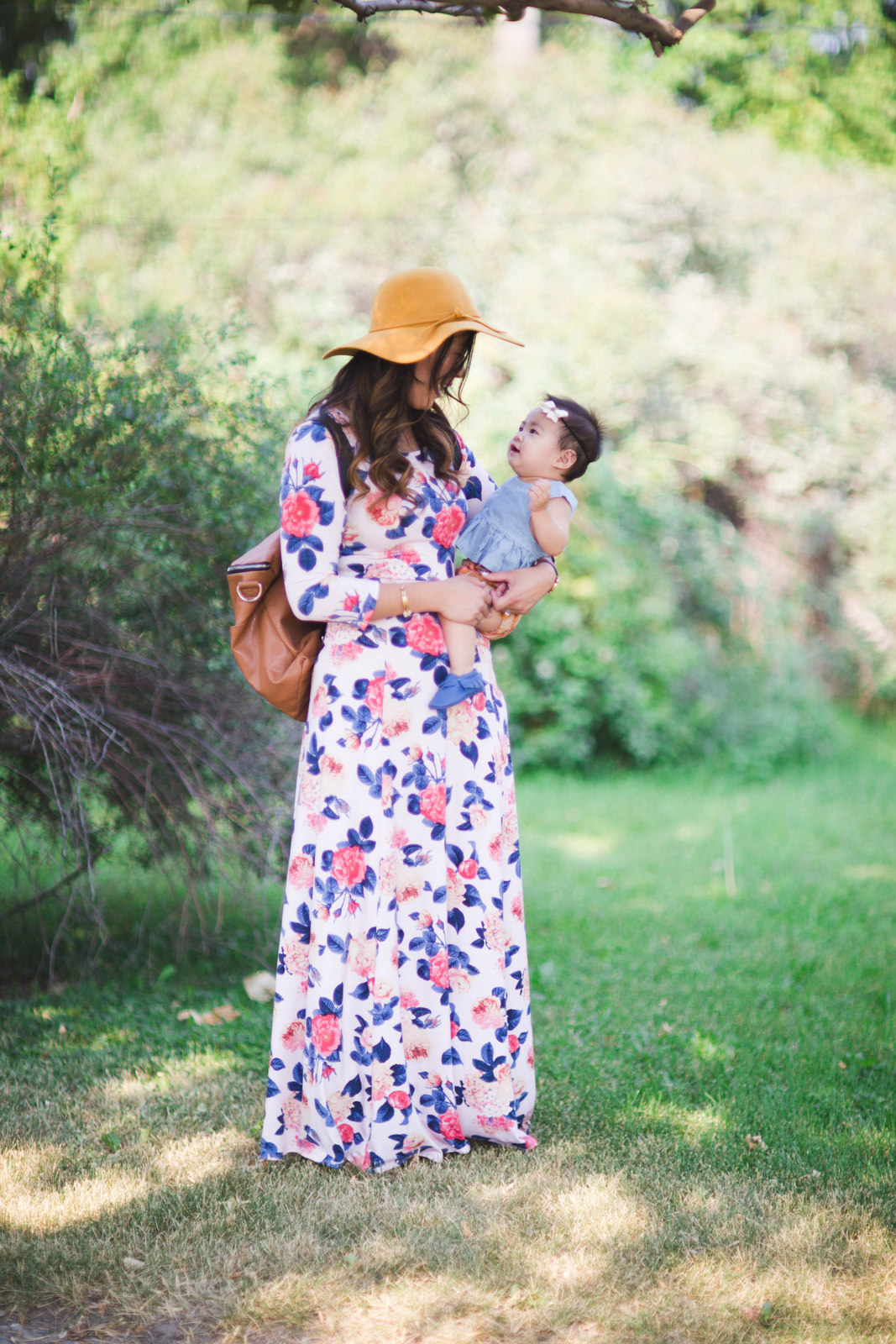 Fashionable outfits for mom and me