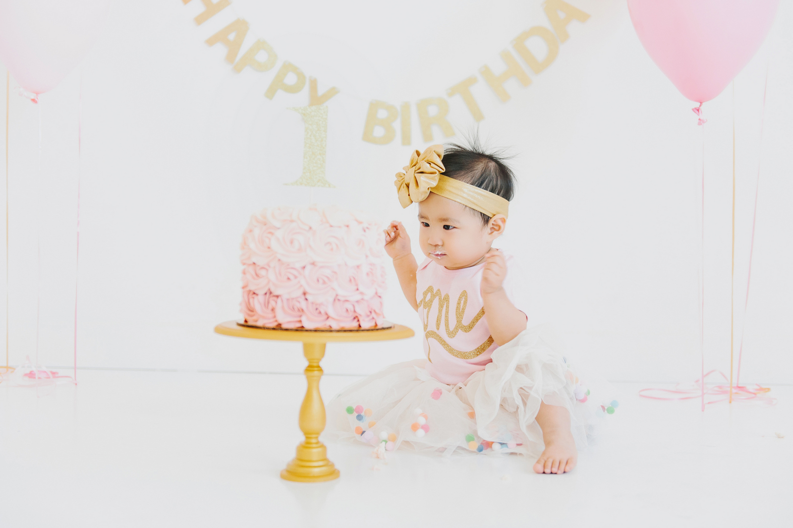 Vivian's 1st Birthday Cake Smash