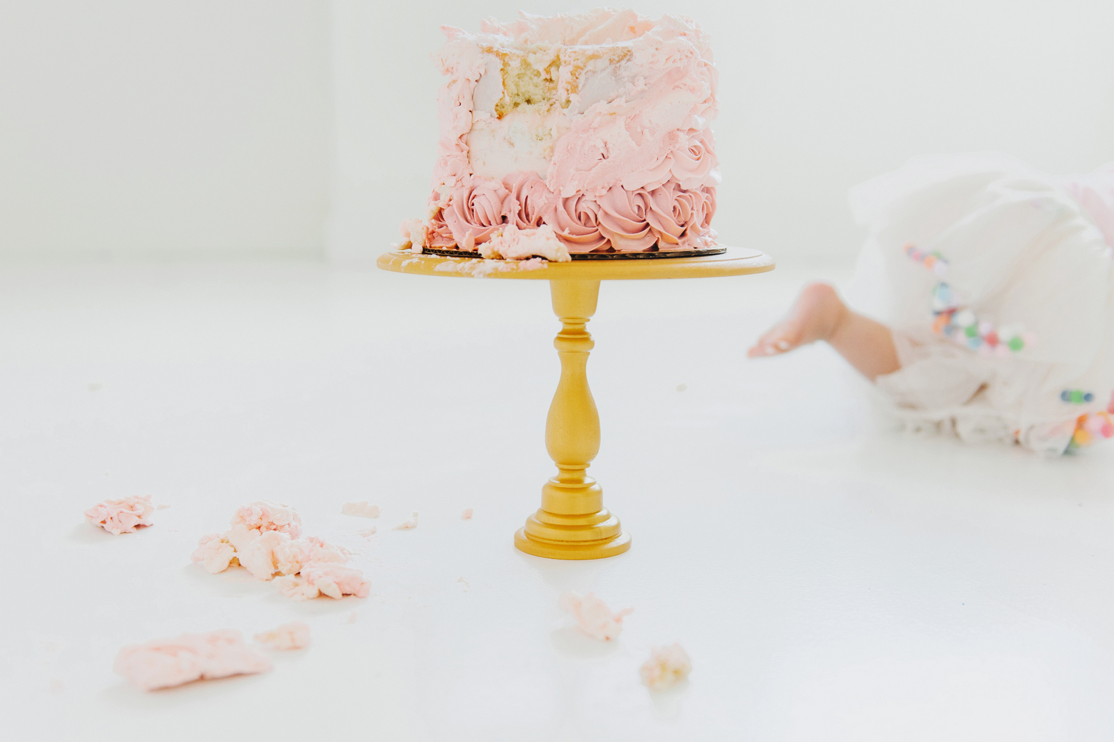 sprinkle and dash rosette cake