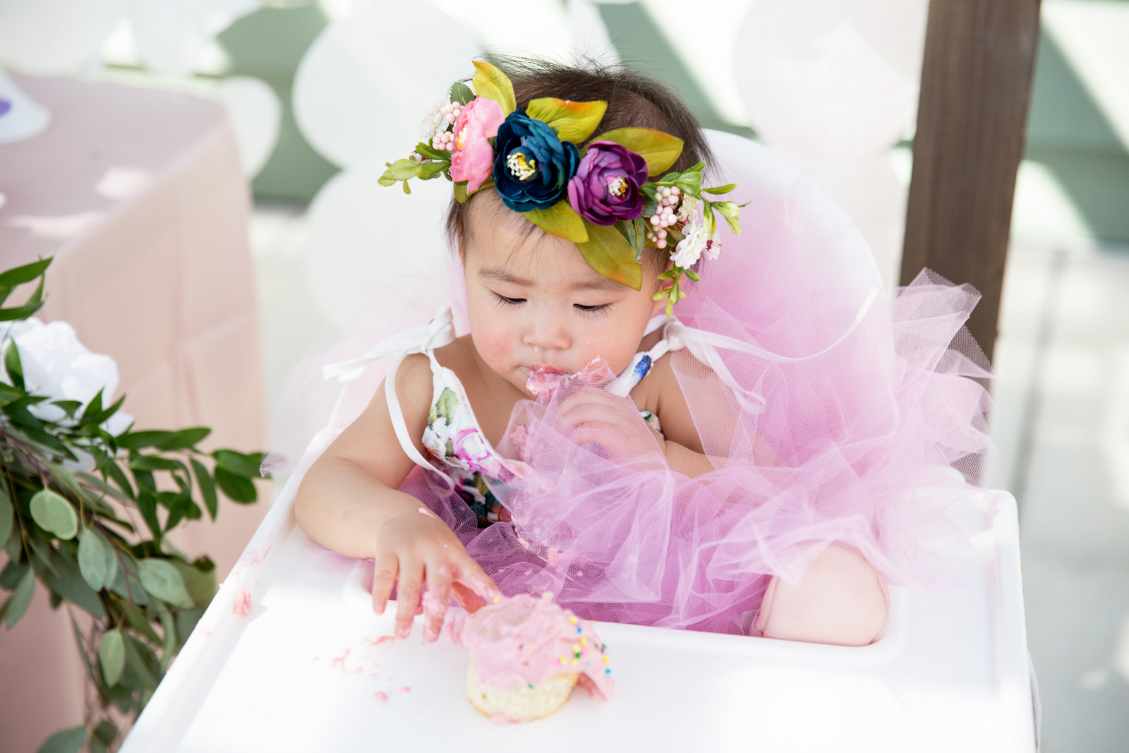 1st birthday garden party