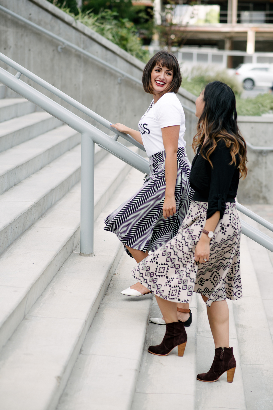 how to style midi skirt