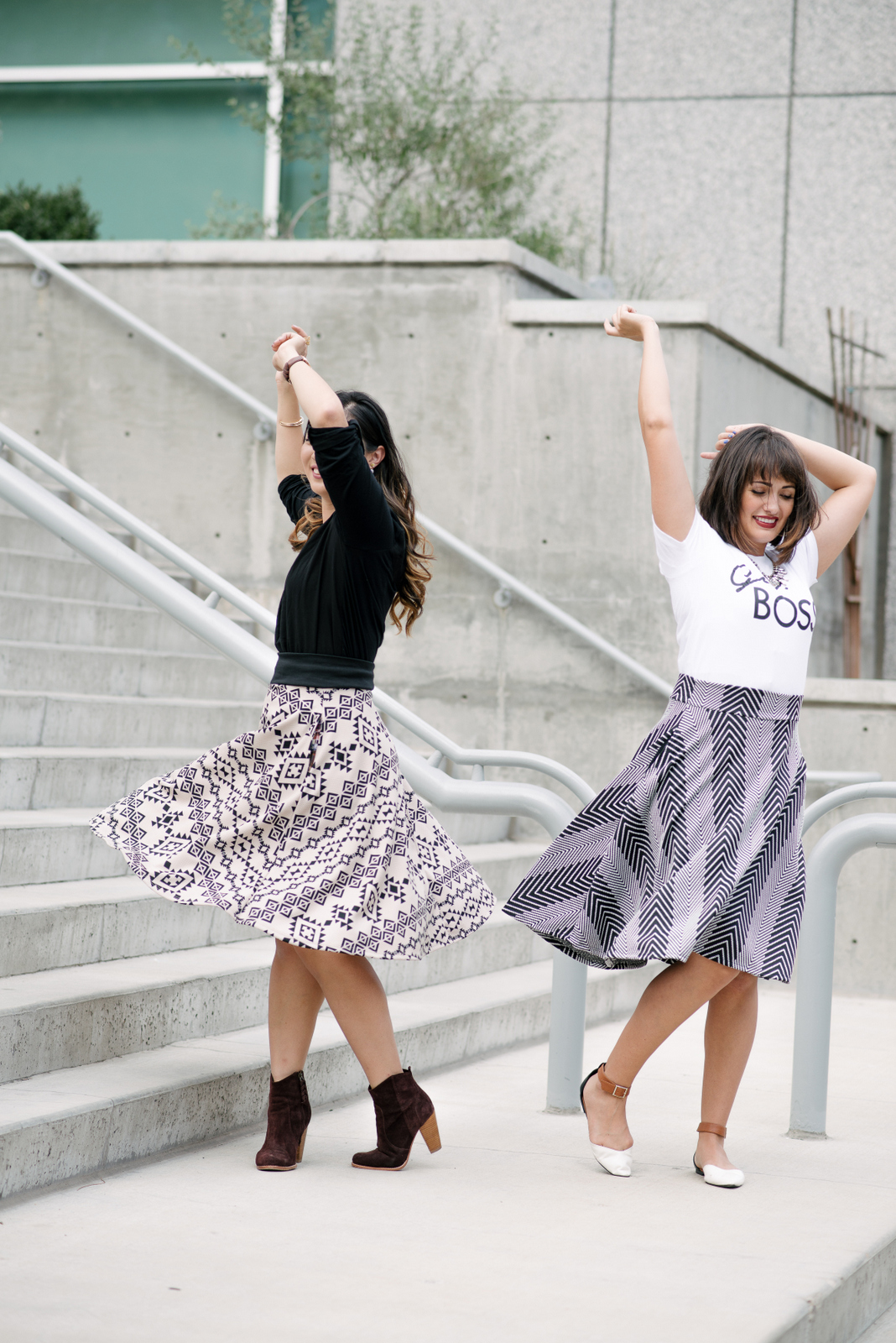 wearing midi skirts for any season