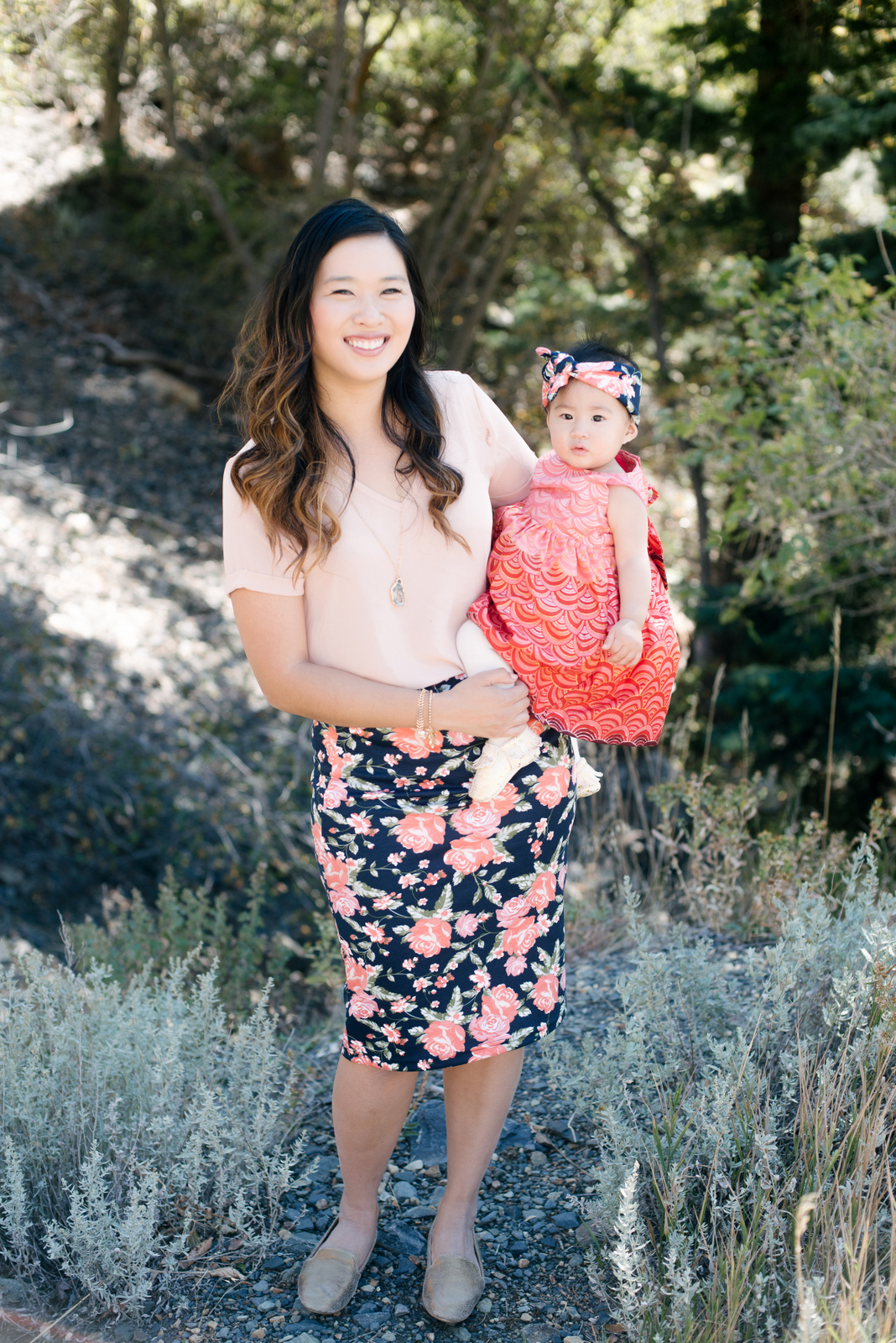 Mommy and me outfit pink florals