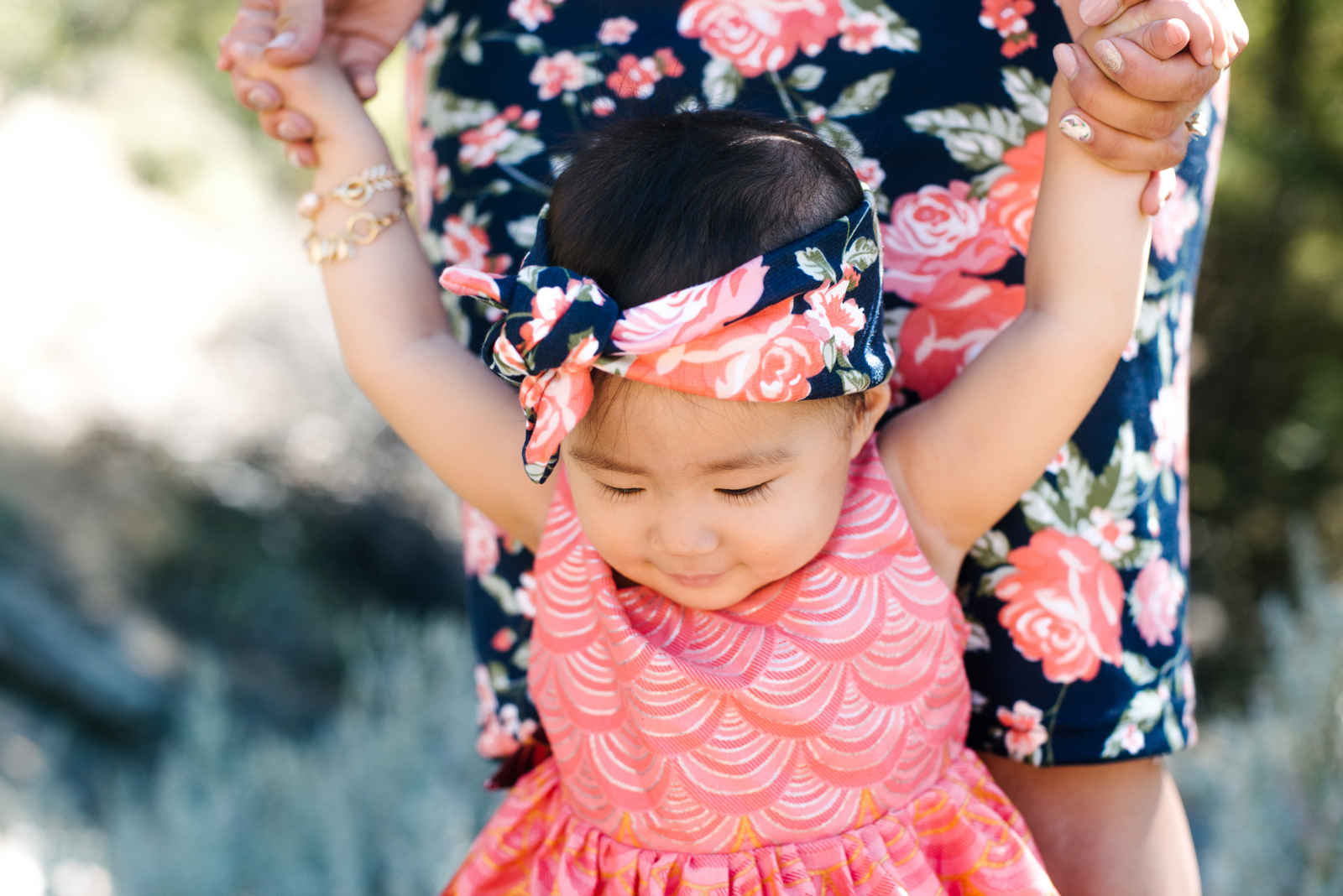 Baby girl wearing Color Me Apparel floral headband