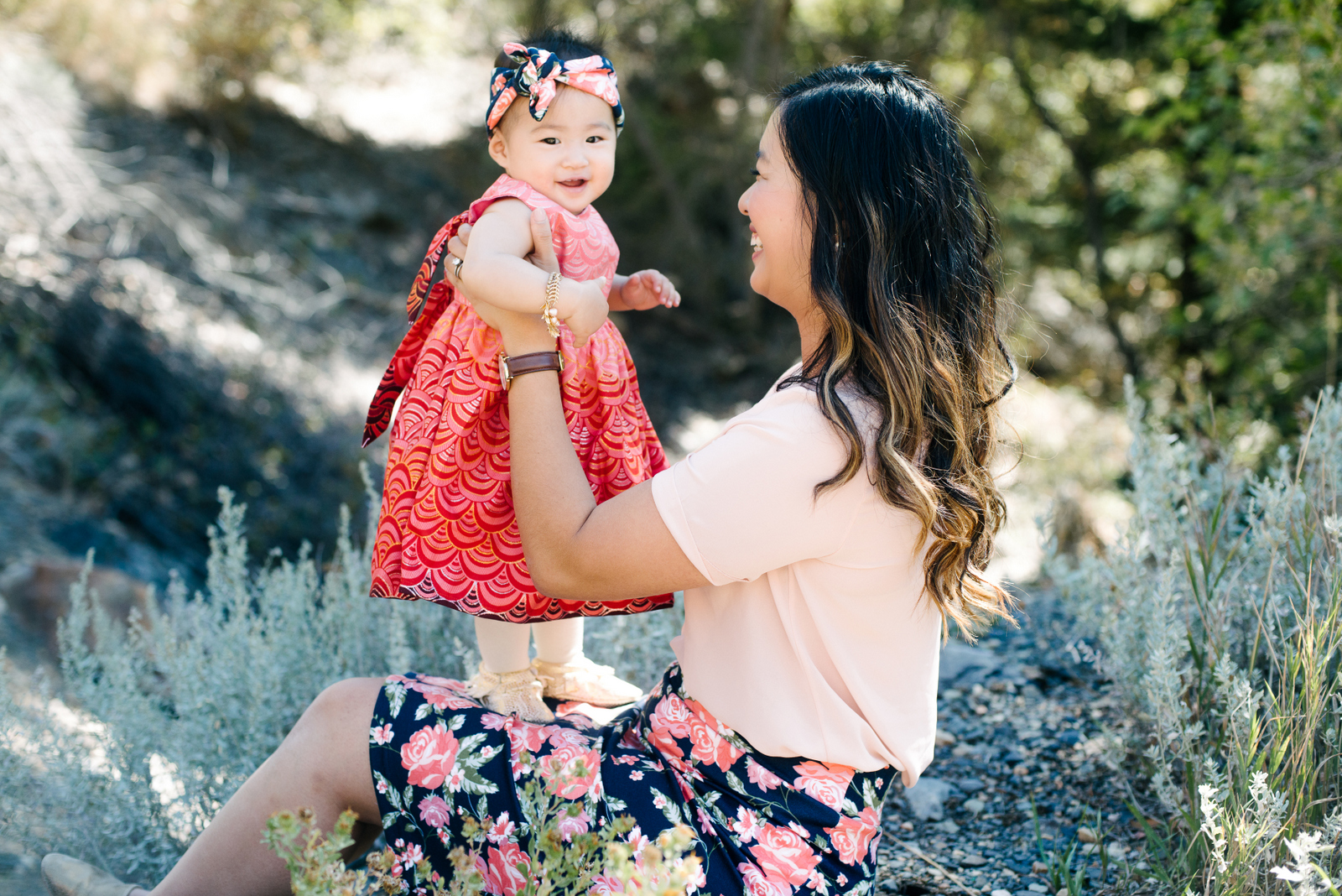 A pink themed Mommy and me outfit