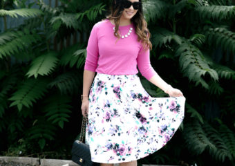 Florals and Lace Ups + On Trend Tuesdays Linkup!