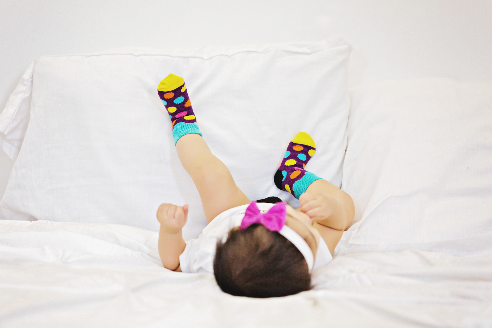Baby girl in Happy Socks