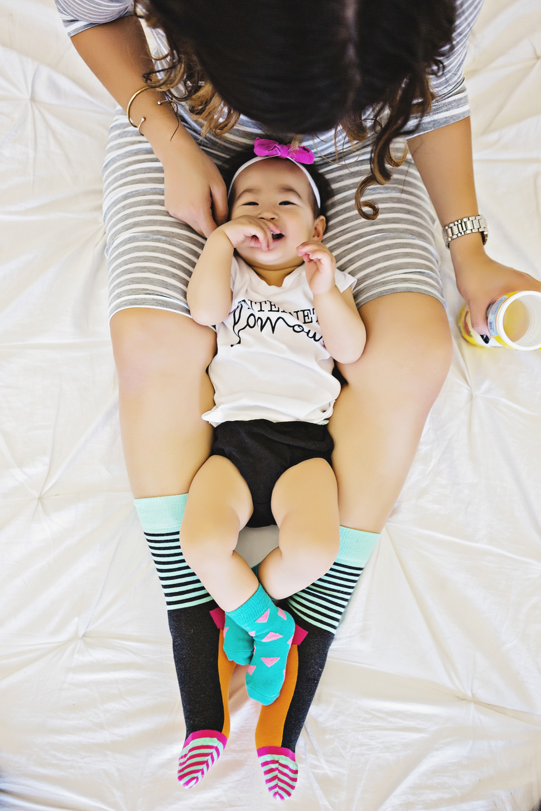 Mommy and me shoot with Happy Socks