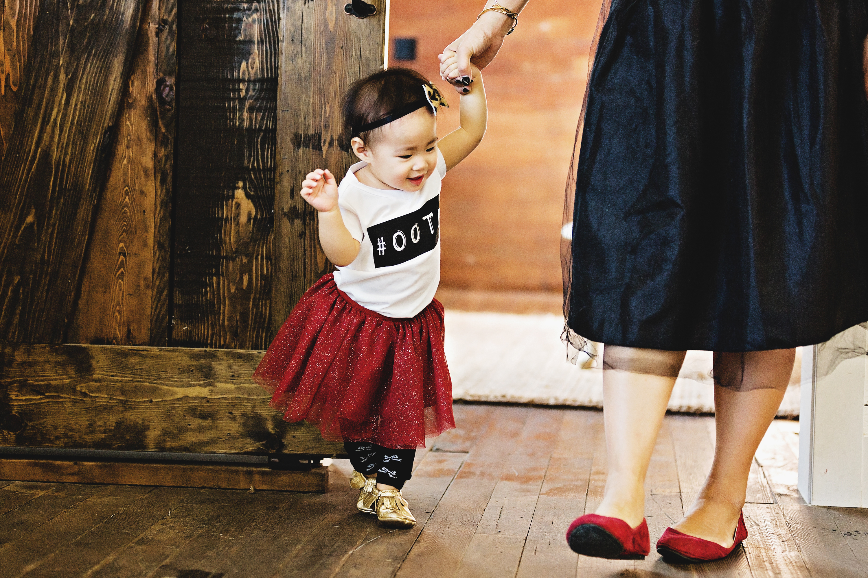Mommy and me Graphic tee and tulle skirts