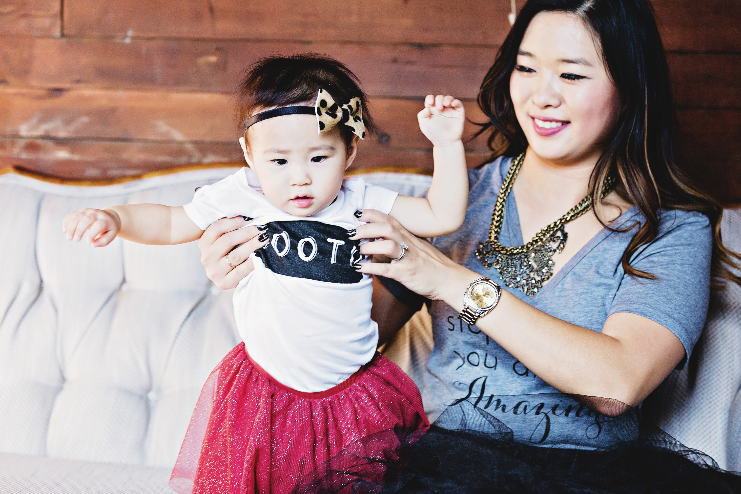 Mommy and me graphic tee