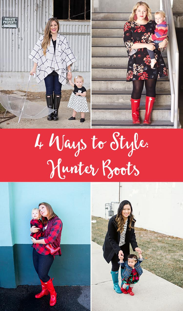 4 ways to wear Hunter boots