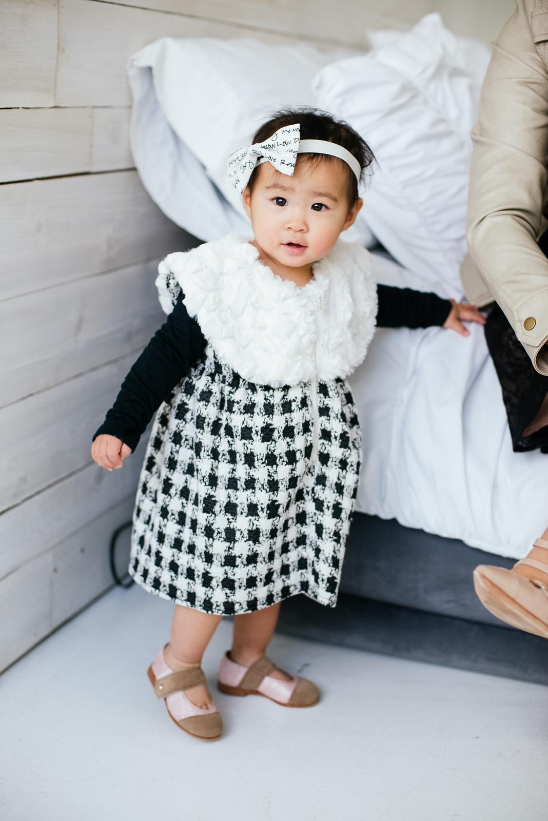 Baby girl wearing Kensington lane Kids