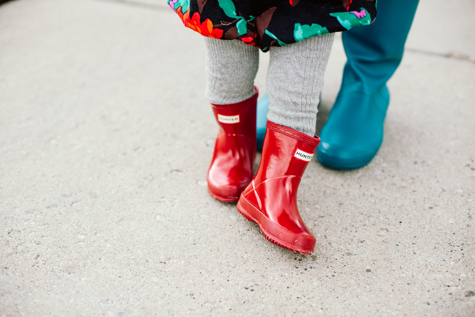 Red toddler Hunter boots