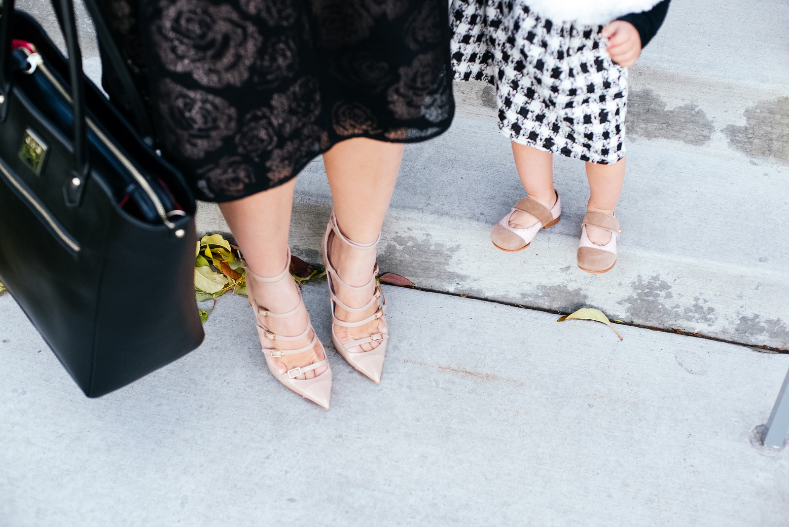 Mommy and me nude and pink shoes