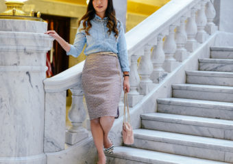 Chambray and Sparkle + On Trend Tuesdays Linkup!