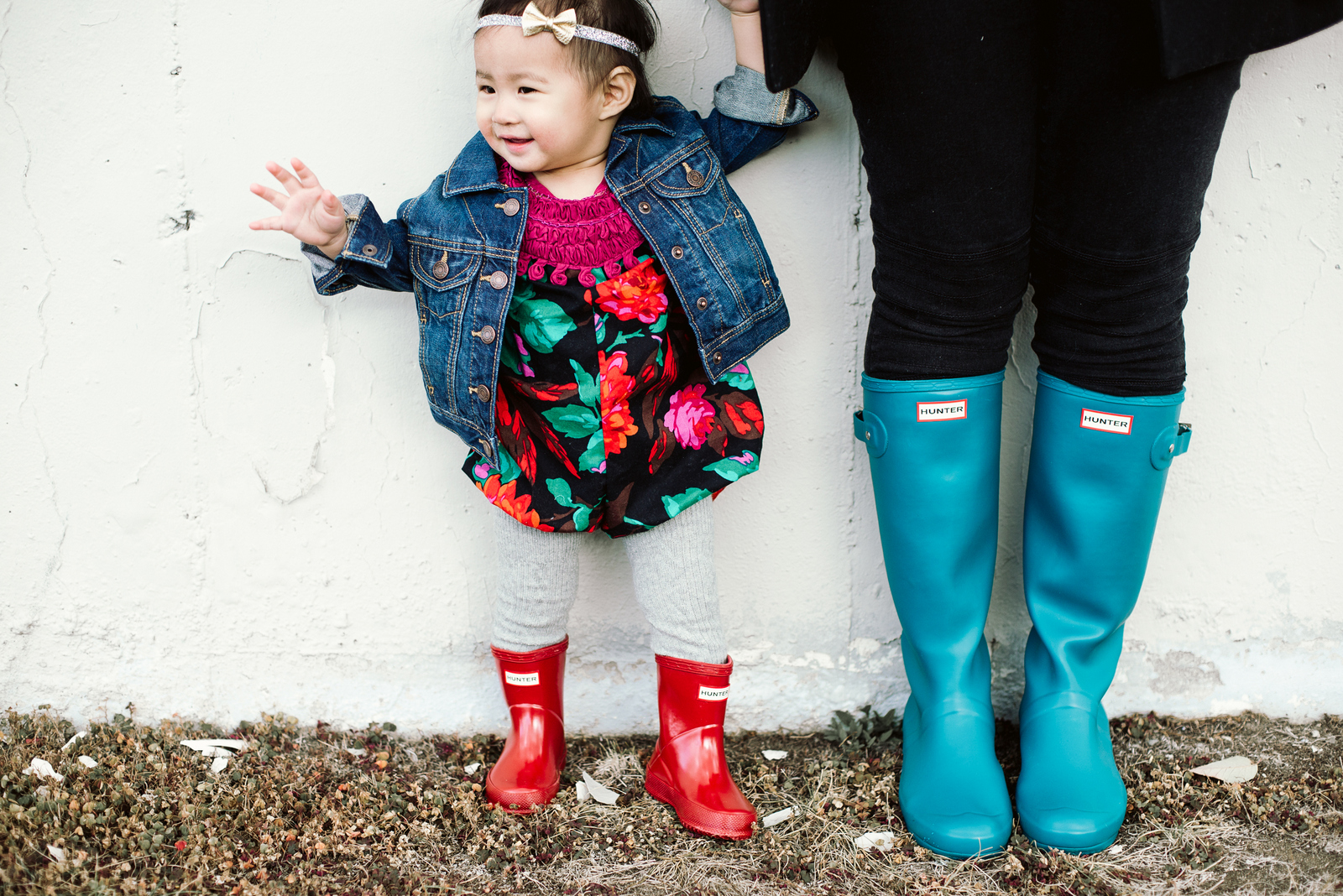 Mommy and me Hunter boots