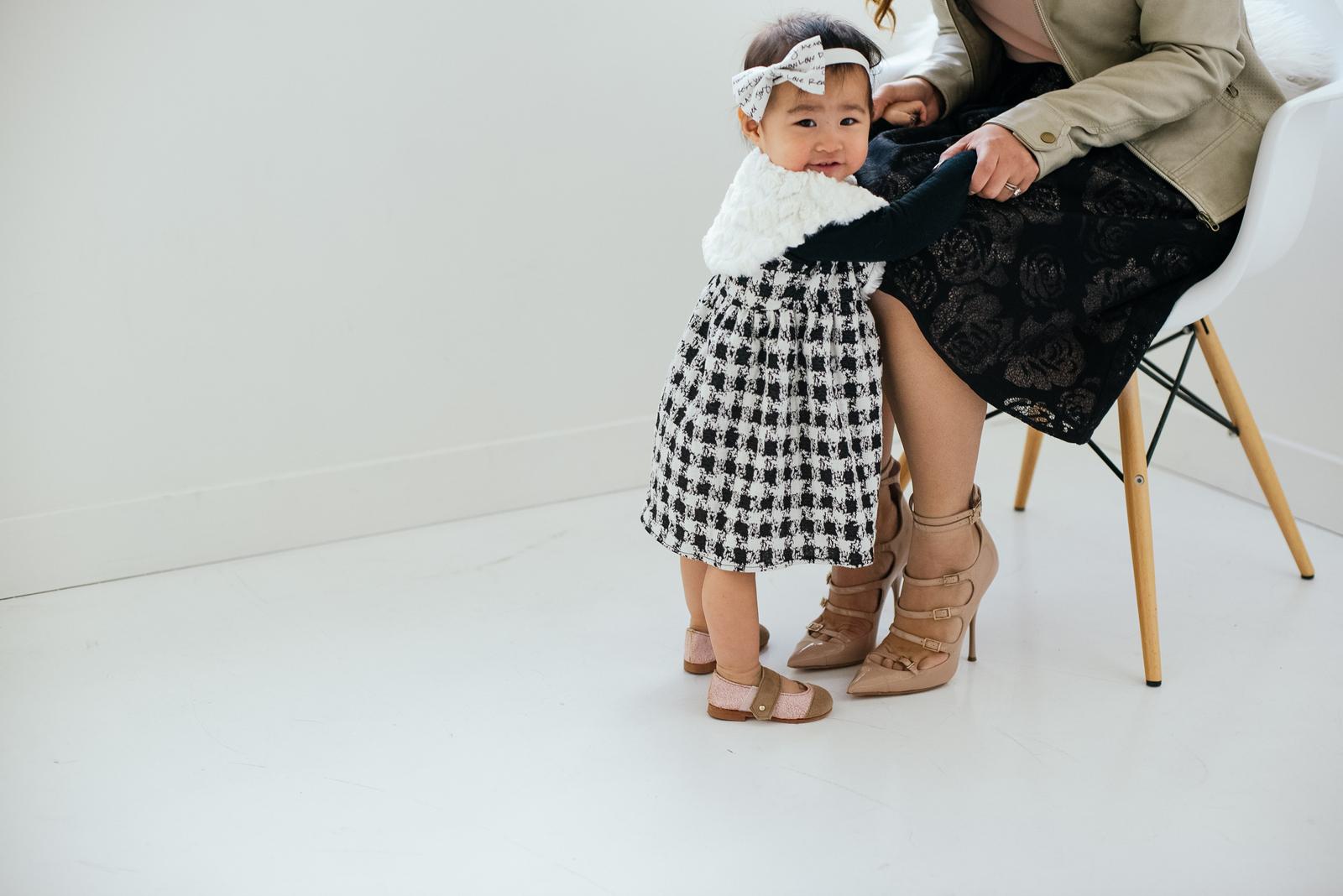 Baby girl in Kensington Lane Kids holiday dress