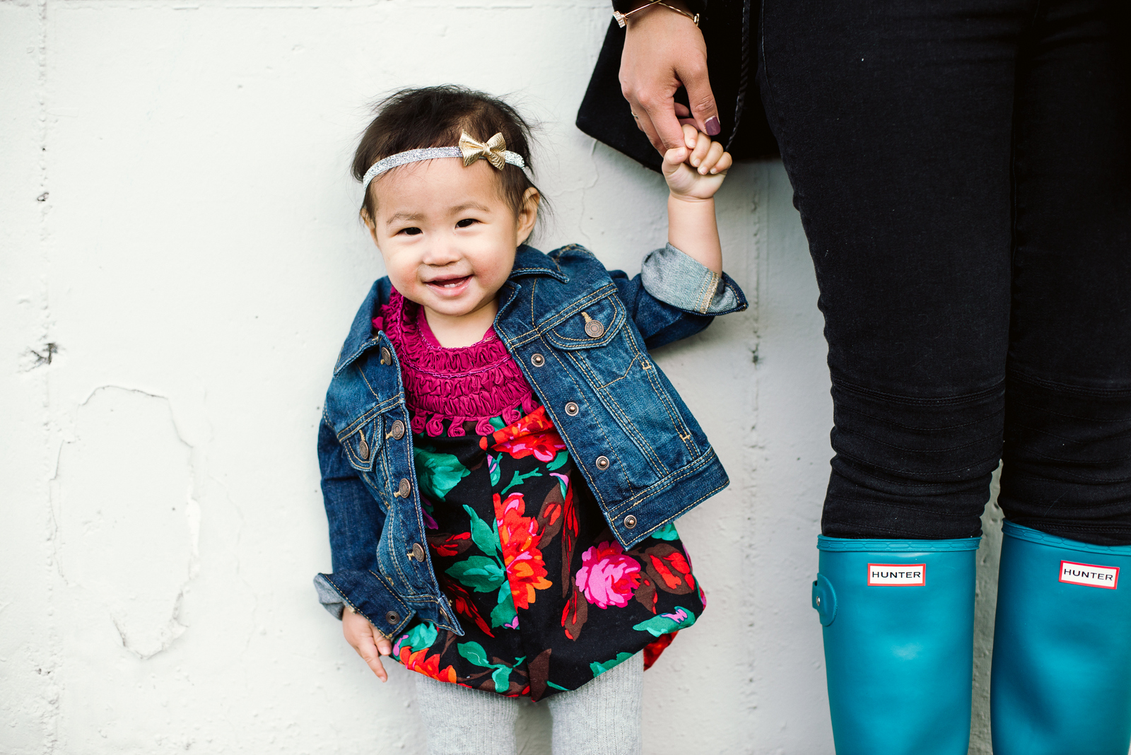 Baby girl in Brass Razoo romper
