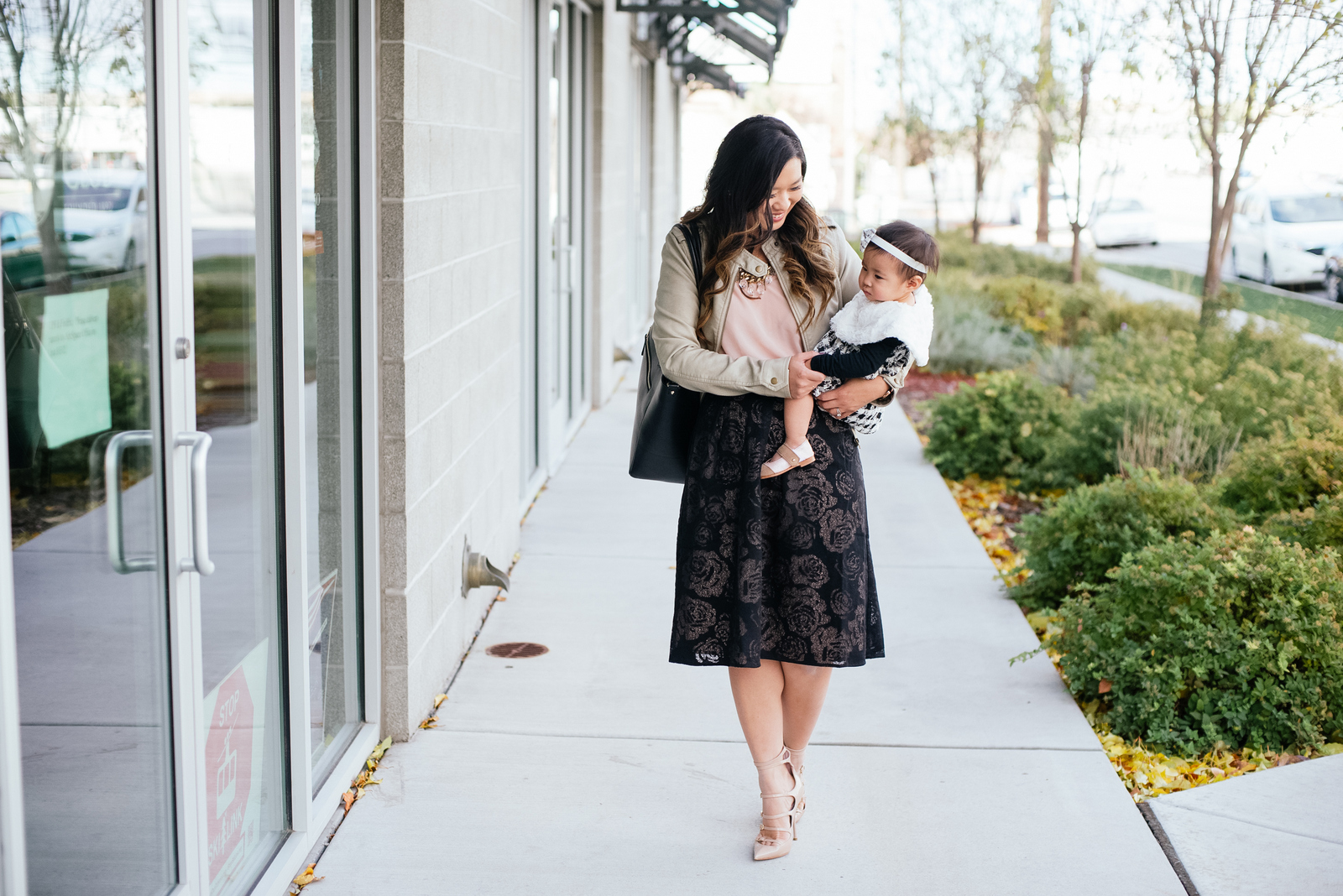 Mom styling Rhea Etcetera skirt