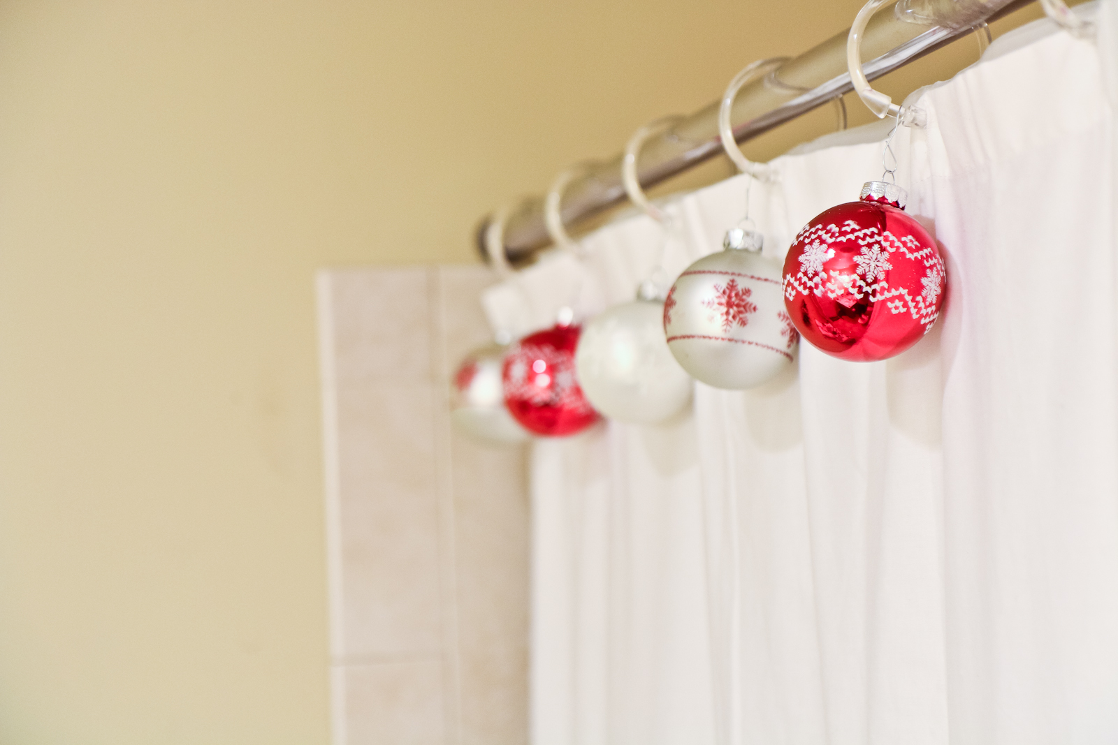 Shower curtain ornaments