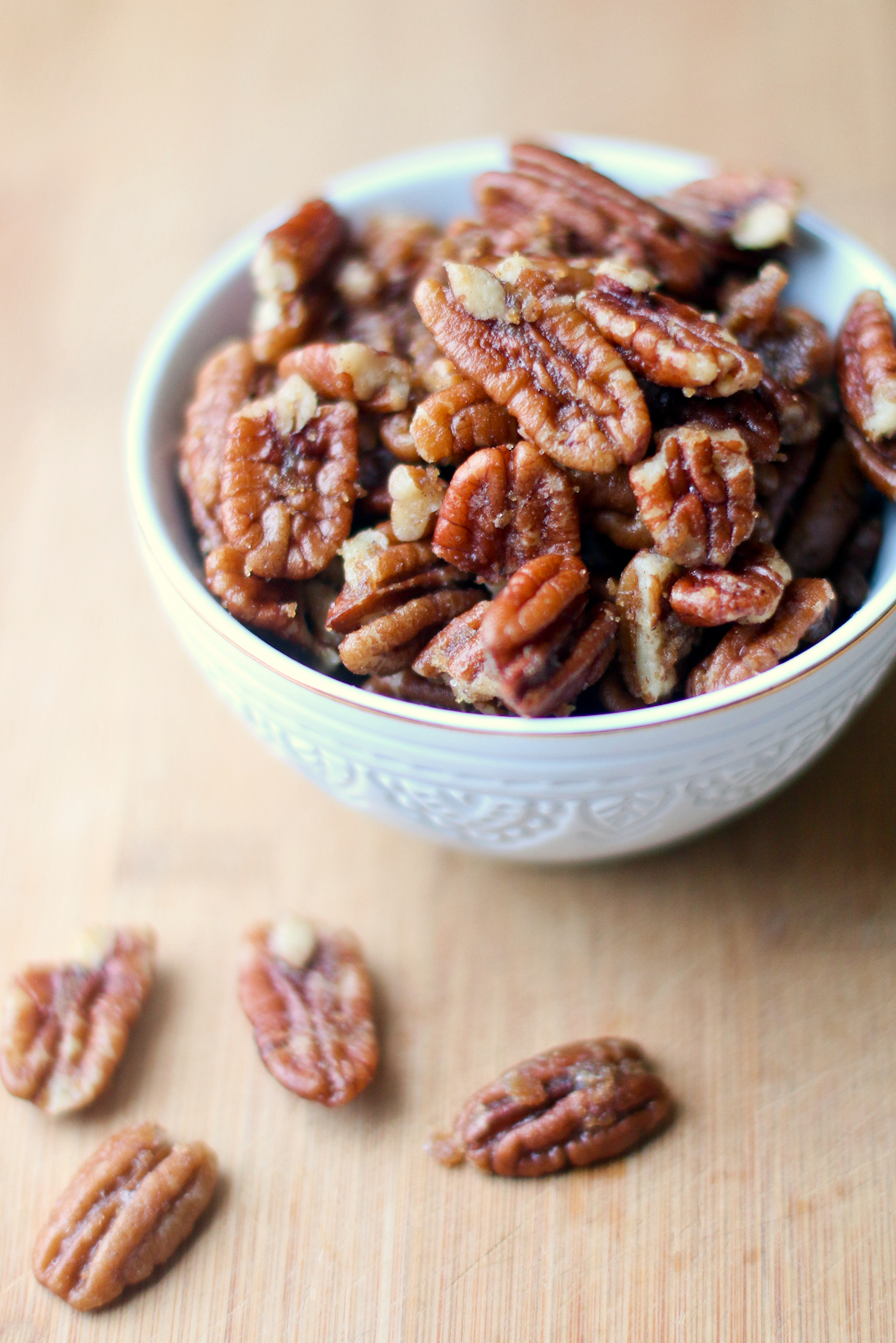 Quick candied pecans recipe
