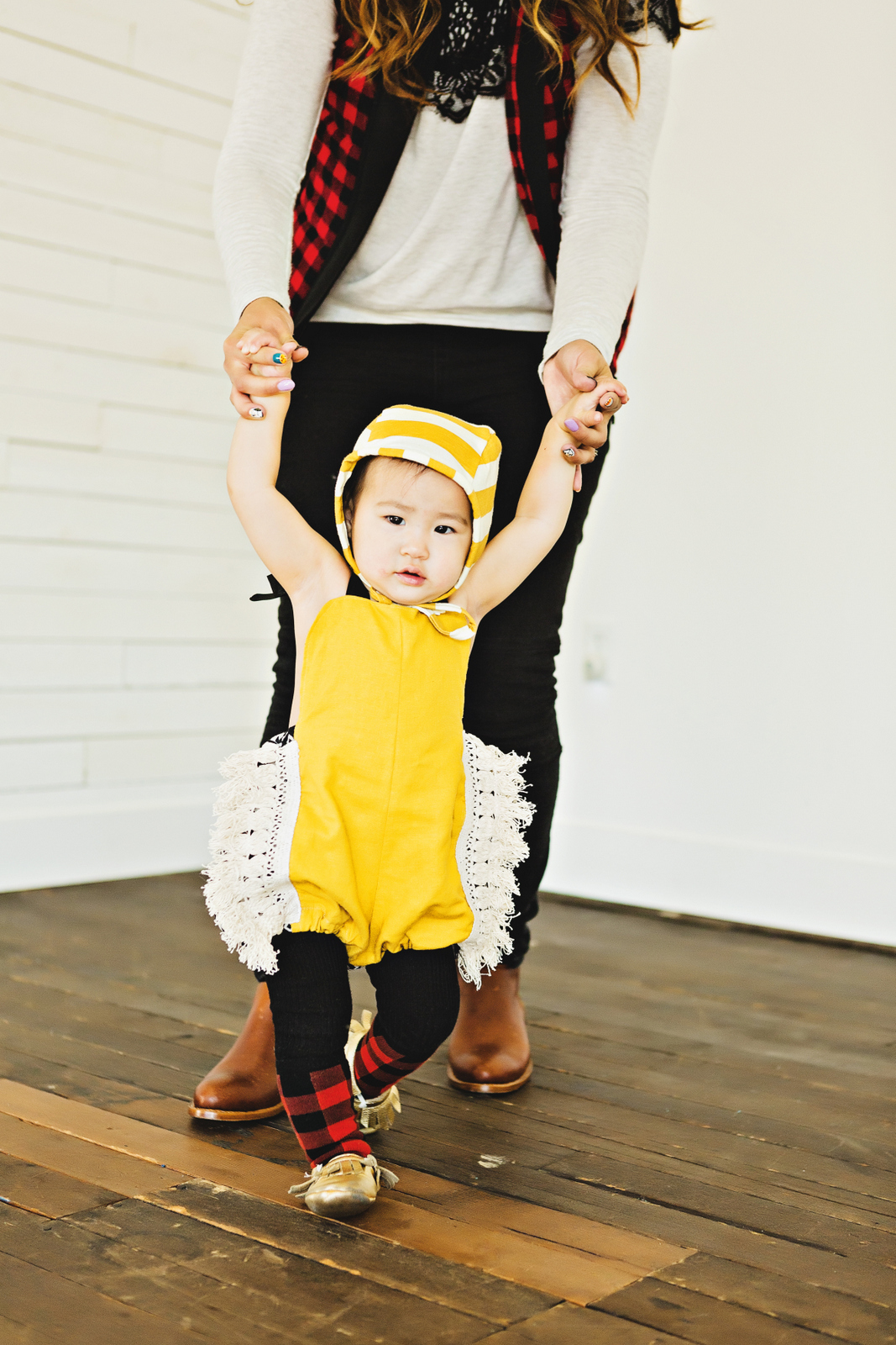 Baby girl styling Ava Rochelle romper