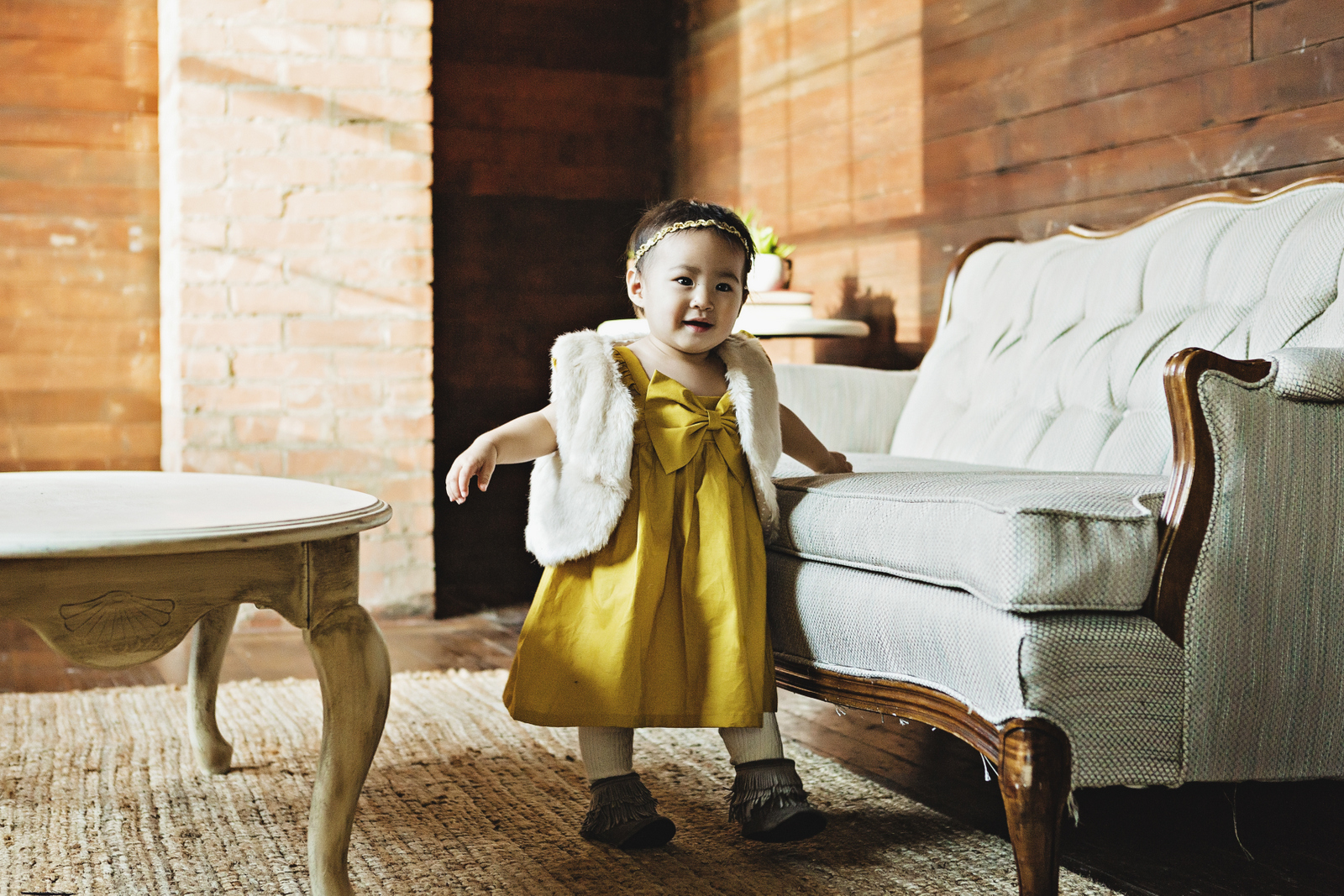 Baby girl dress with vest