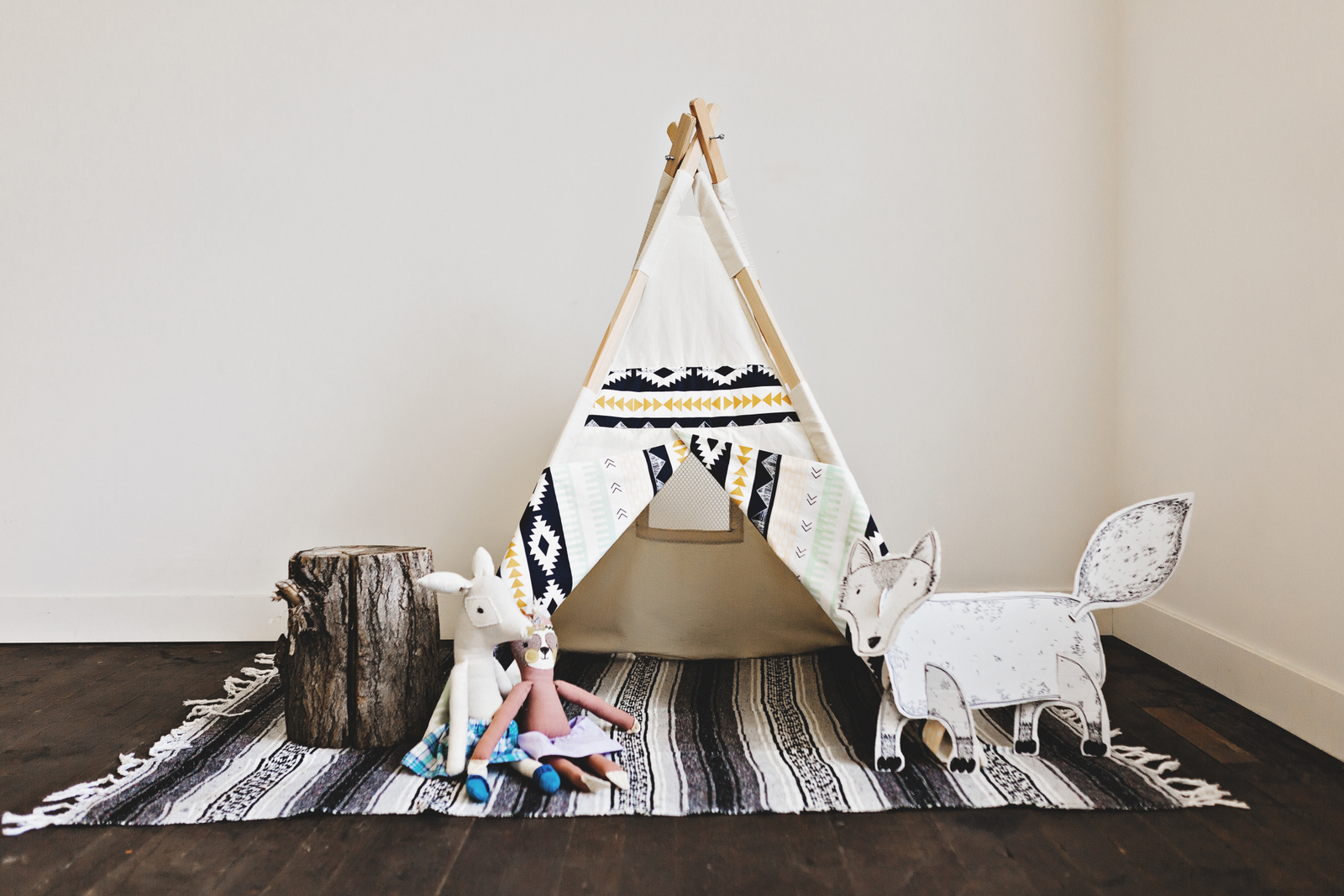 Tnees teepee and Spanglish Heart blanket