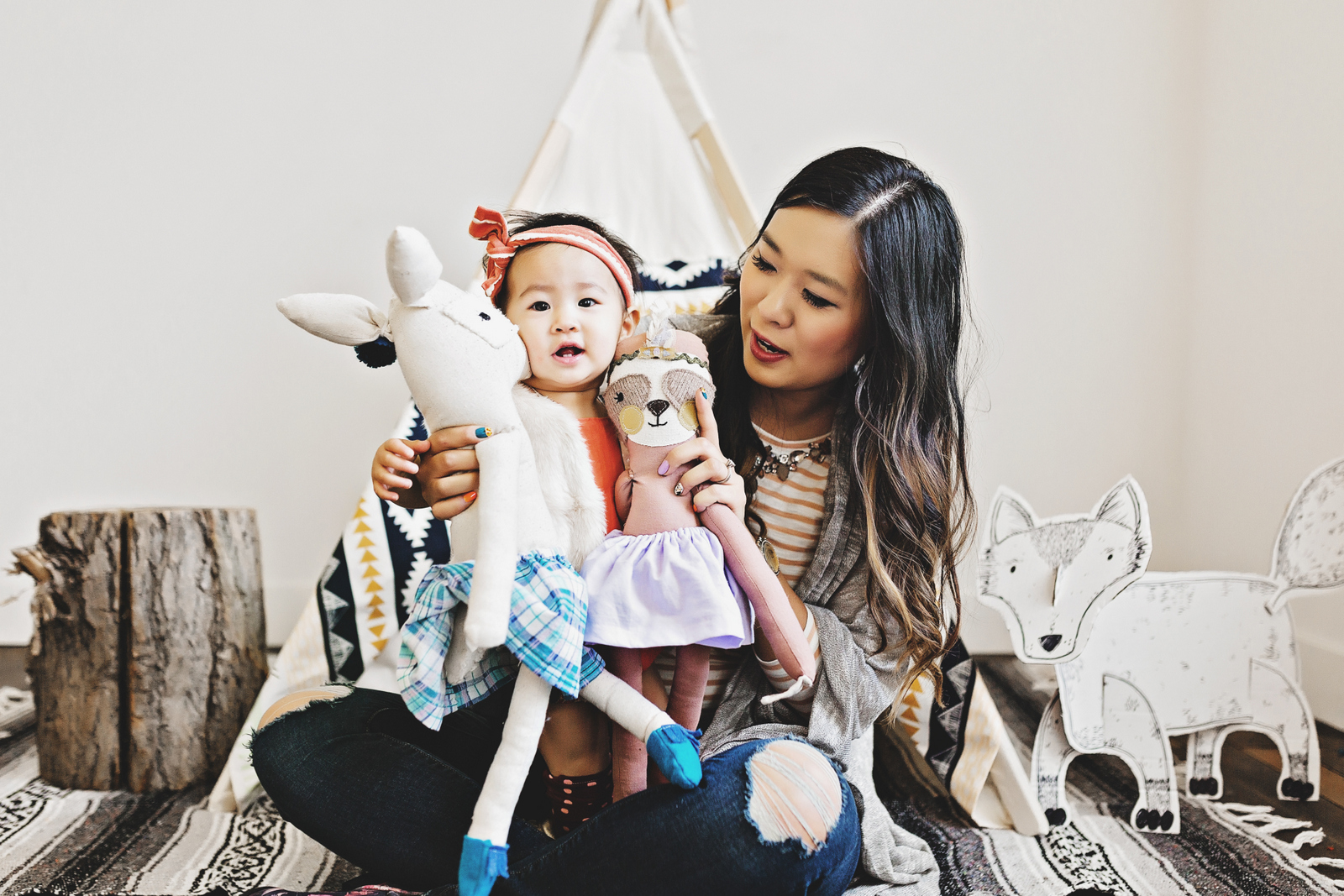 Mommy and me style with Dainty Cheeks dolls