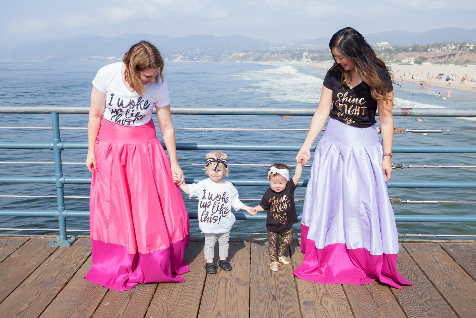 Mommy and Me Style: Graphic Tees and Maxi Skirts | SandyALaMode