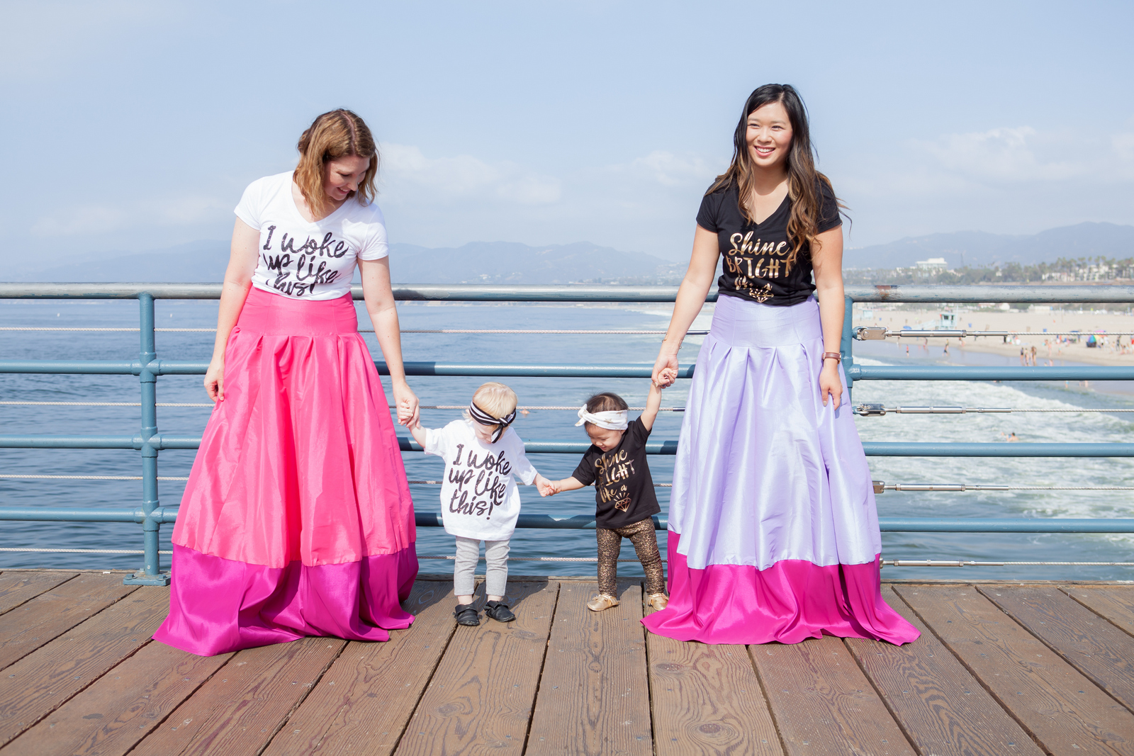 Mommy and me graphic tees and maxi skirts