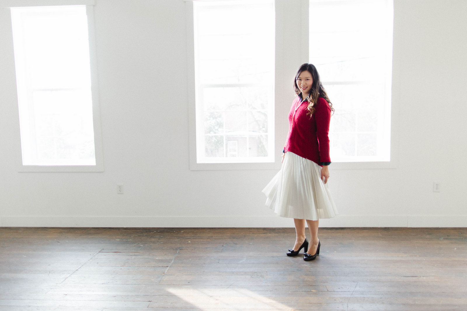 Pleated skirt style