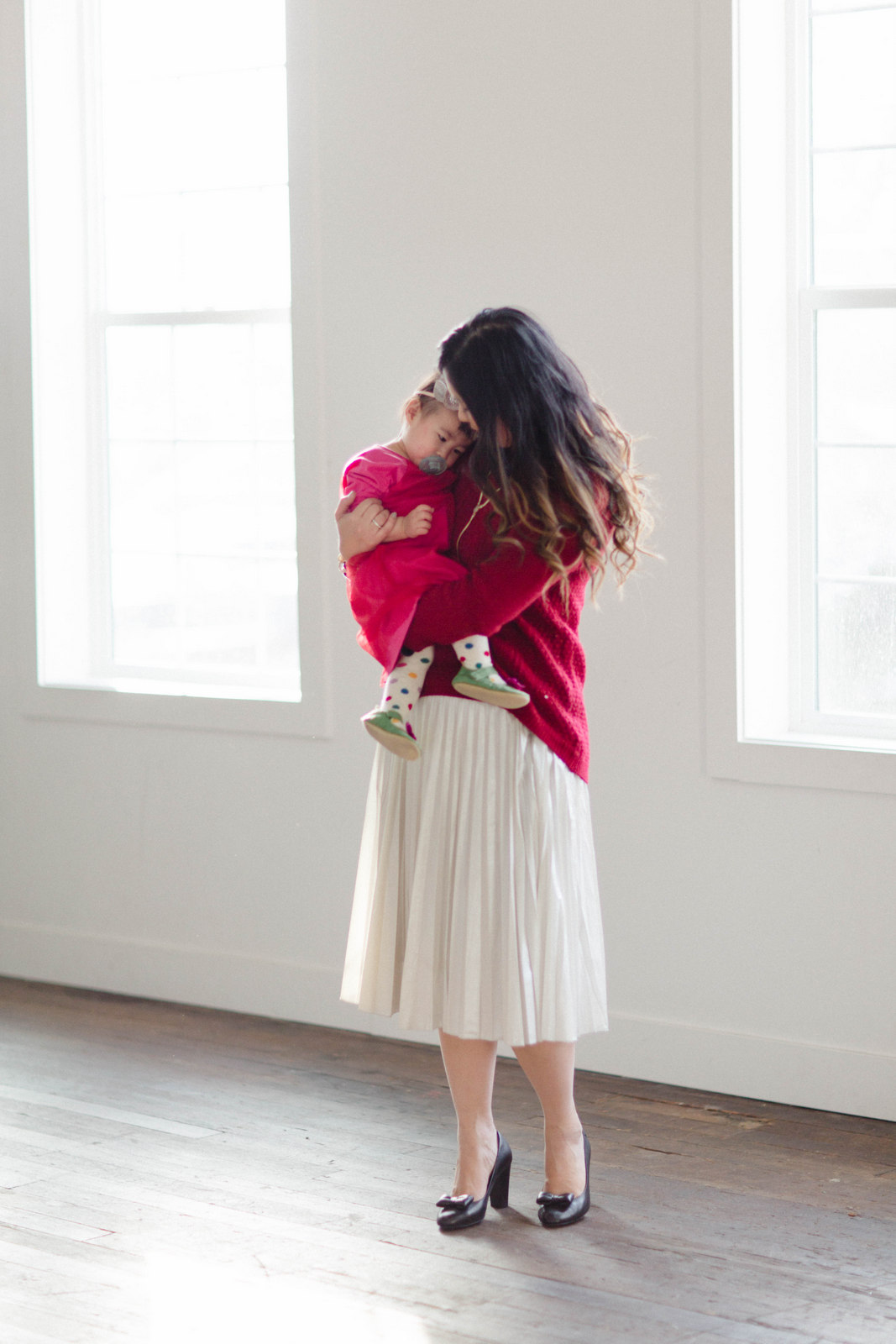 How to style red for mom and daughter