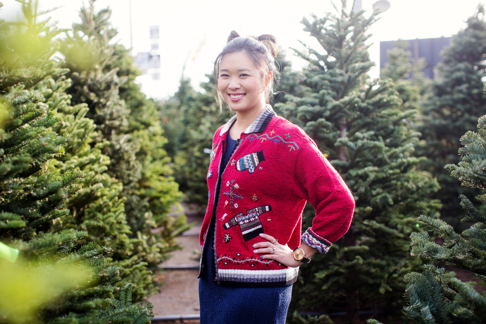 How to style a holiday sweater