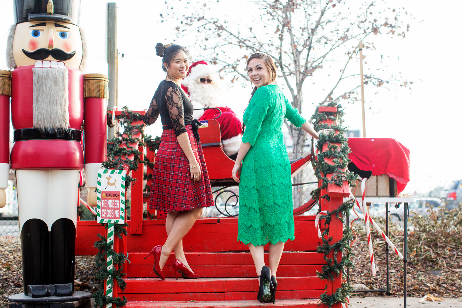 Red and Green Christmas Dresses