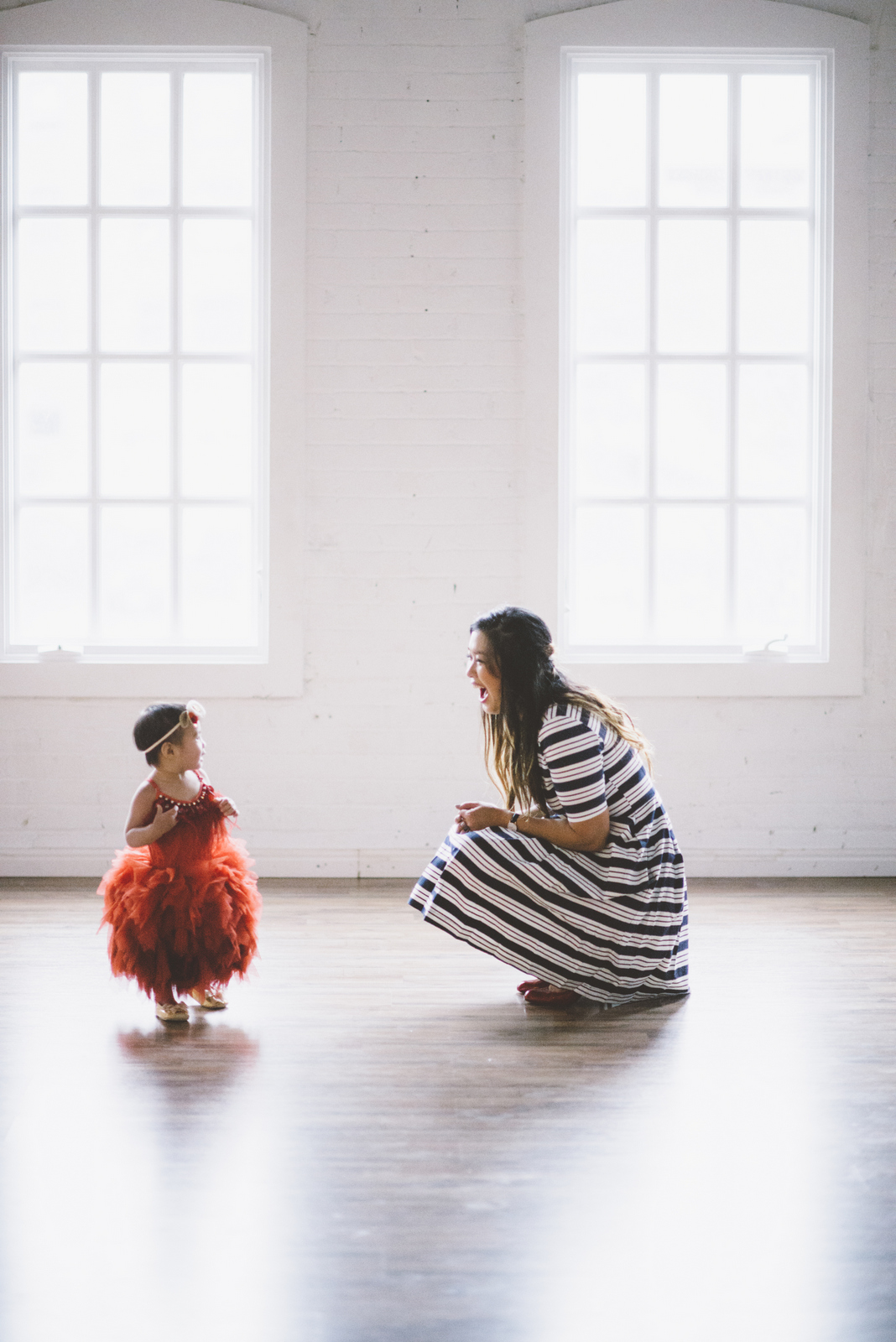 Mother and daughter dressy style