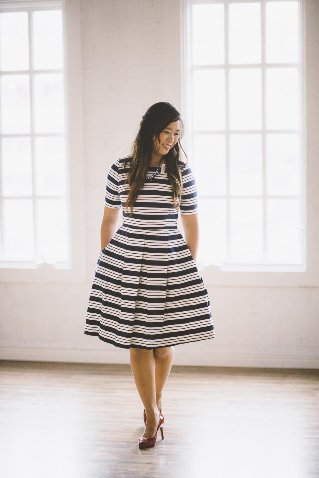 Downeast Basics striped dress