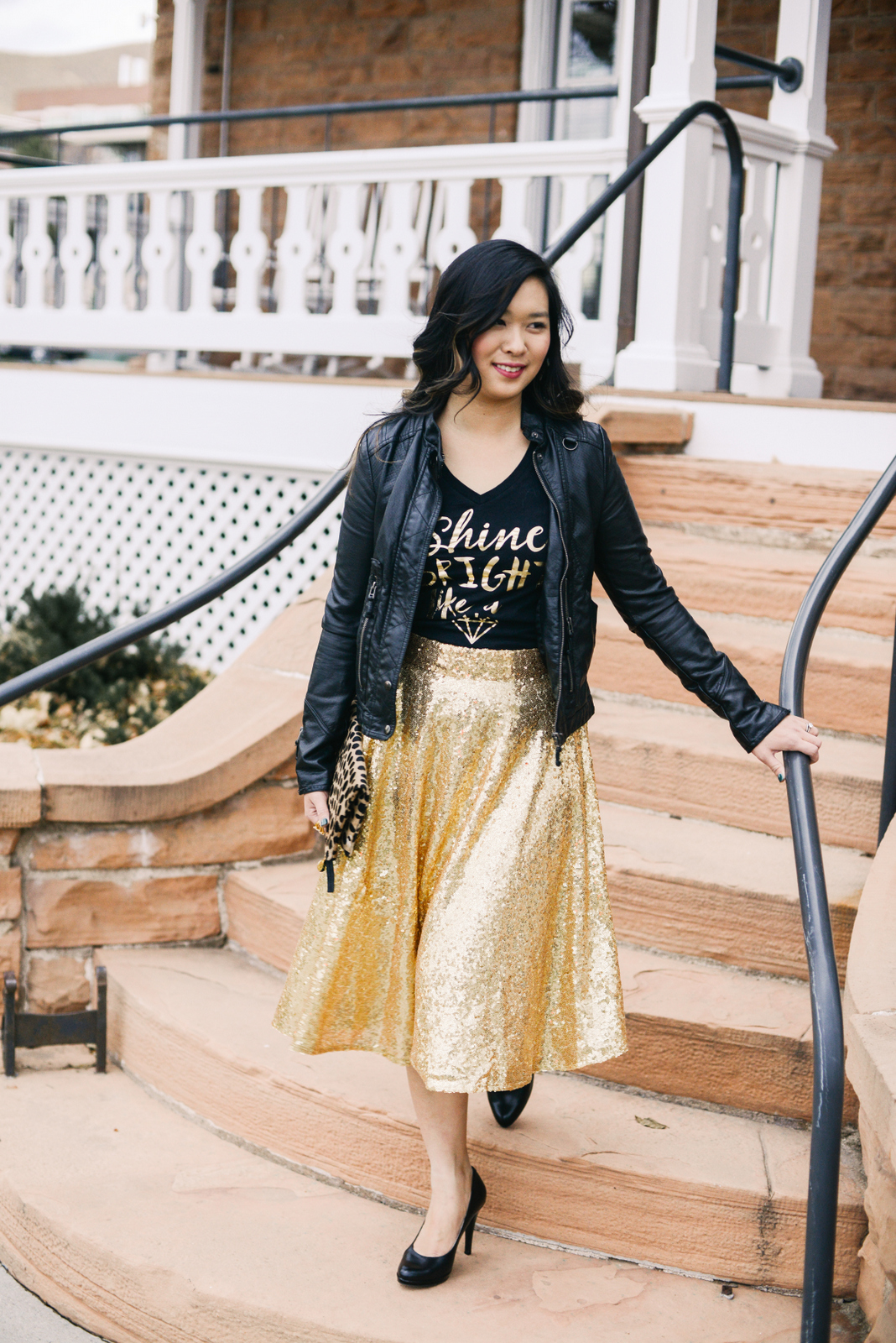 3 Ways To Style A Sequin Skirt