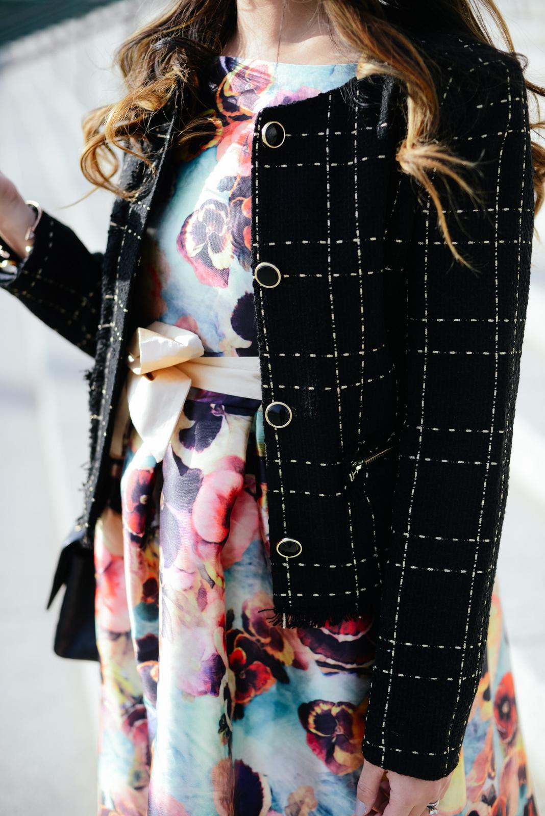 Chanel inspired black jacket
