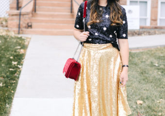 3 Ways To Style A Sequin Skirt + New Years Party Blog Hop