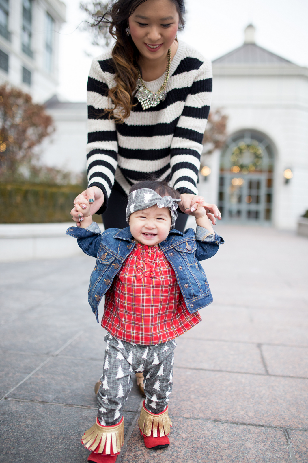 Mommy and me casual winter style