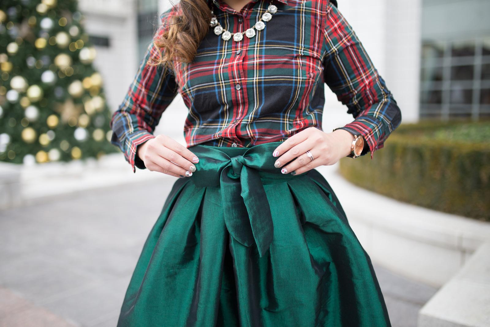 Cents of Style Taffeta Bow Skirt