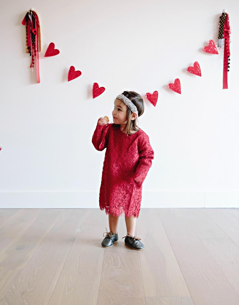 Girls Valentine's Day dress
