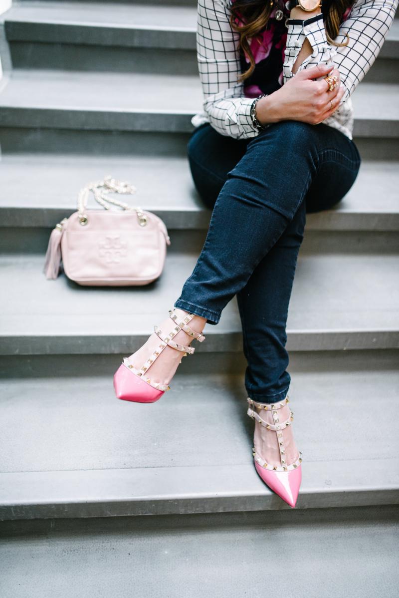 Pink rockstud Valentinos