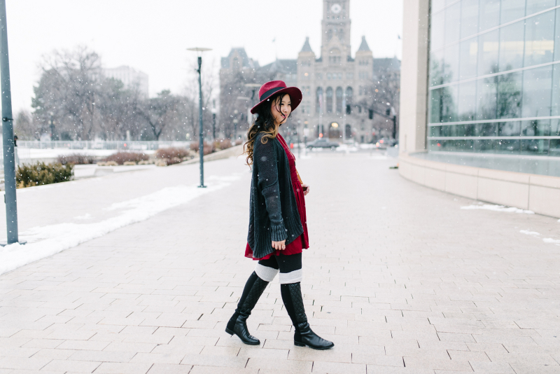 Women's winter outfit