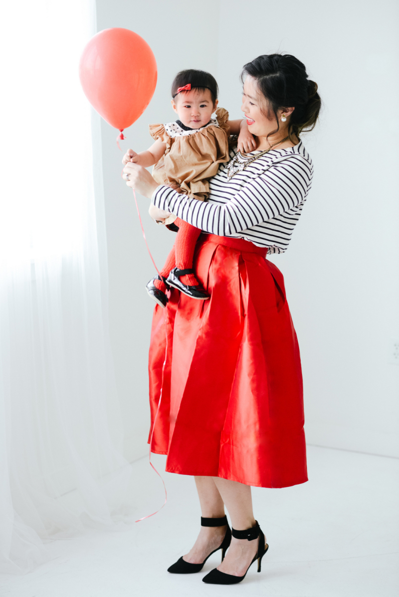 Mommy and me outfits: Valentine's Day outfit