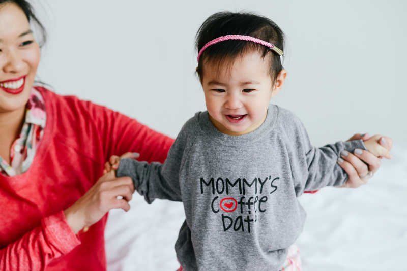 mommy and me outfits: valentine's day casual outfit