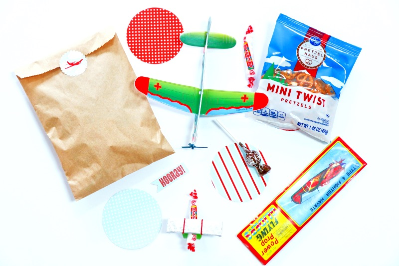 Airplane birthday party favor bags