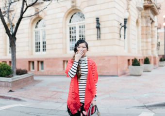 LulaRoe Kimono: Valentine's Day To Night Outfit