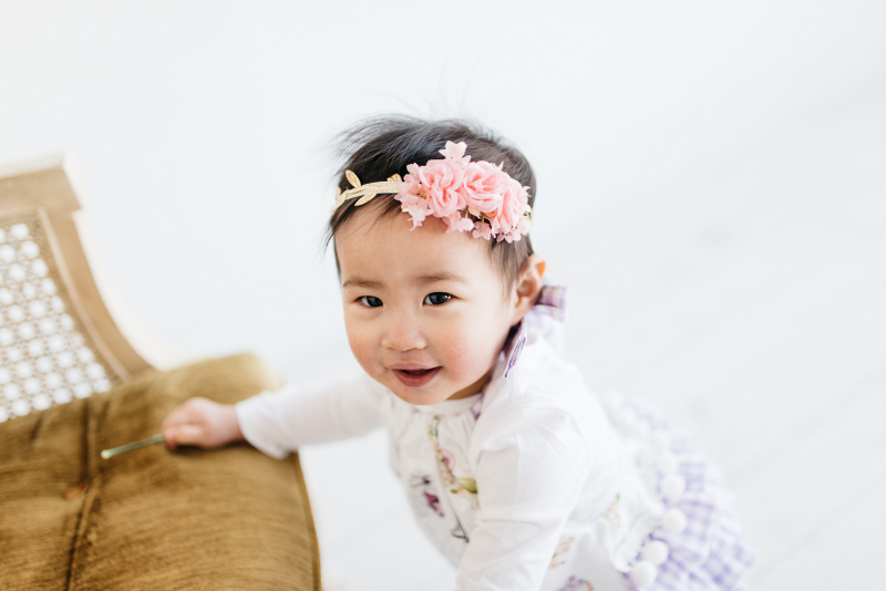 Baby floral crown